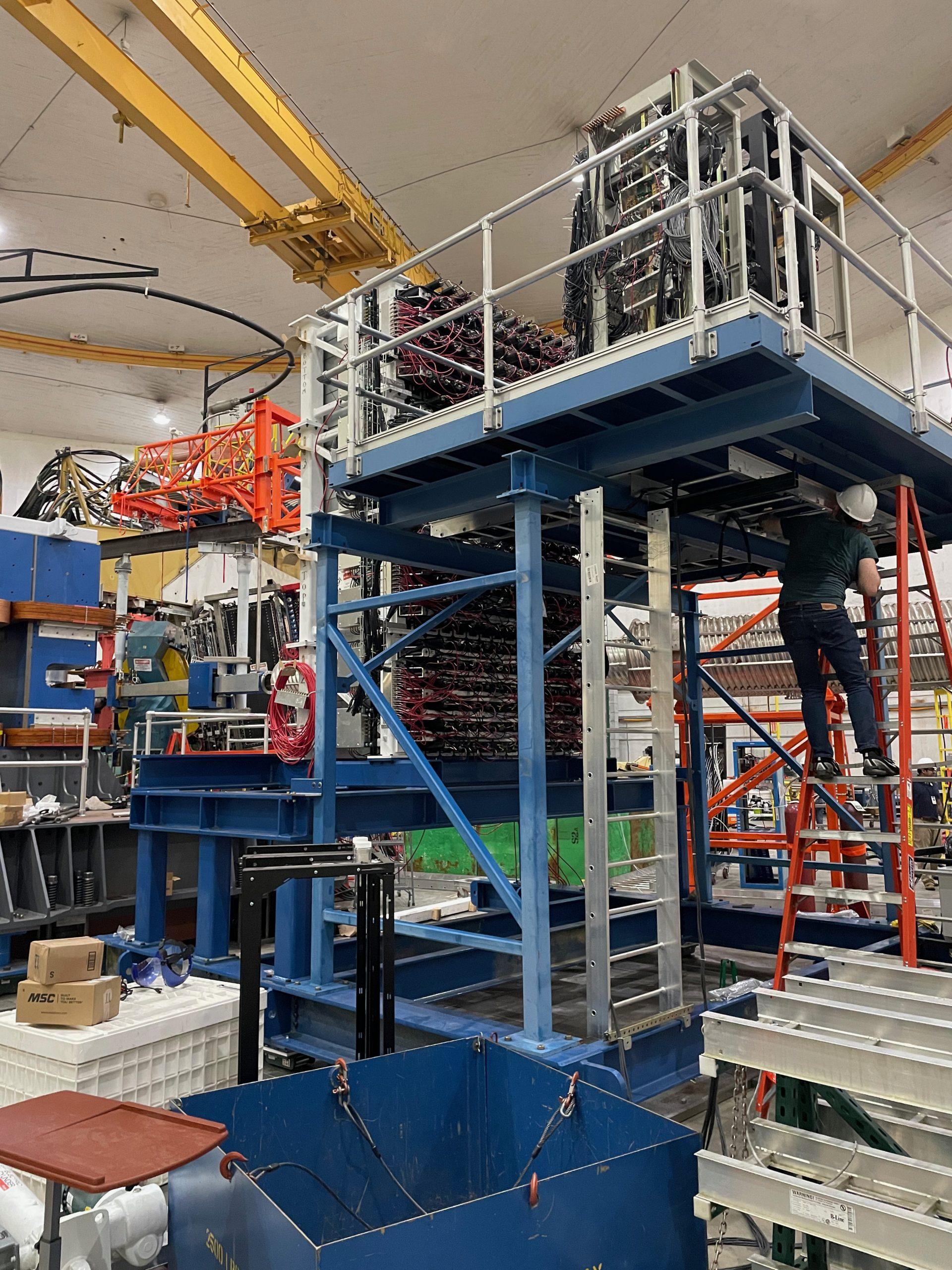 Hadron calorimeter rear view